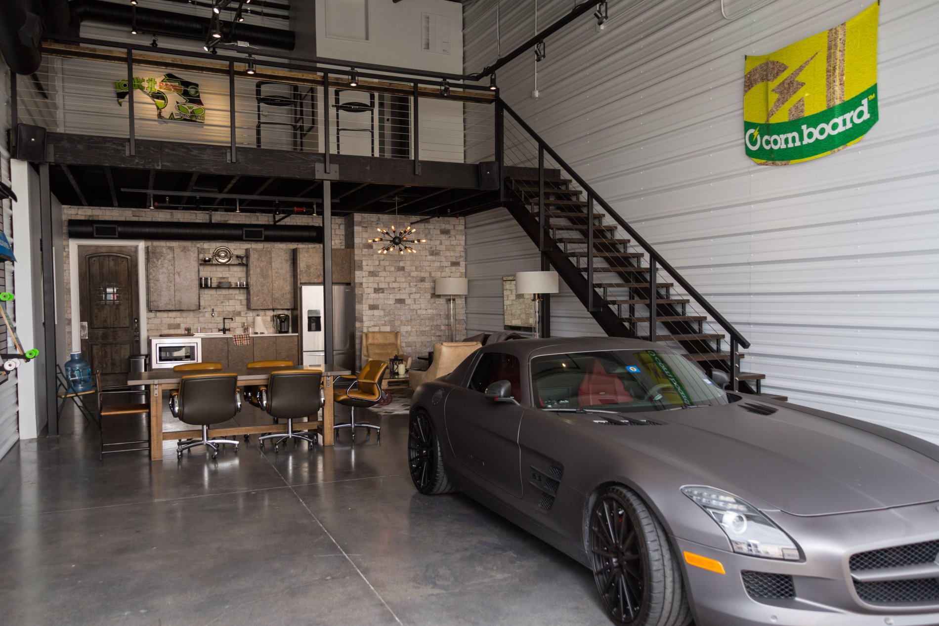 Ultimate garage man cave garages of texas for 2 car garage man cave